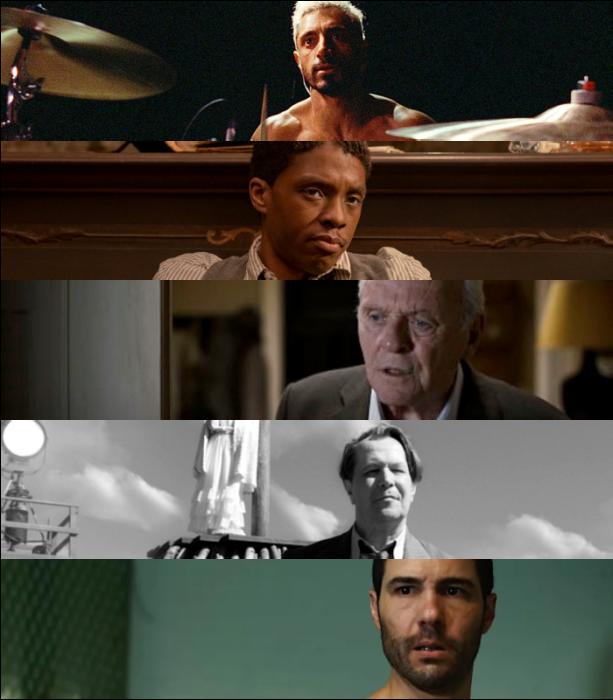 "Riz Ahmed (""Sound of Metal"")   Chadwick Boseman (""Ma Rainey's Black Bottom"") Anthony Hopkins (""The Father"")   Gary Oldman (""Mank"")   Tahar Rahim (""The Mauritanian"")"