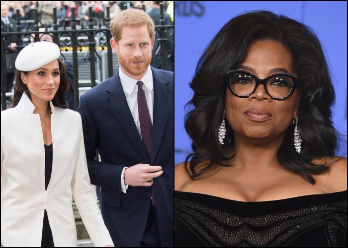 Meghan Marke, príncipe Harry y Oprah Winfrey