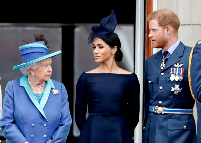 reina Isabel II, Meghan Markle, príncipe Harry