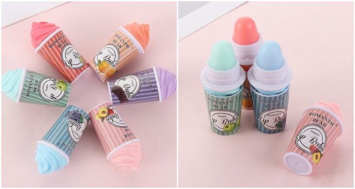 Brillos labiales en forma de helados; 12 Labiales bonitos que merecen tener un espacio en tu tocador