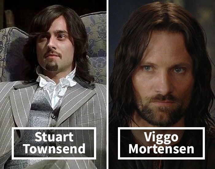 Stuart Towsend por Viggo Mortensen en El señor de los anillos