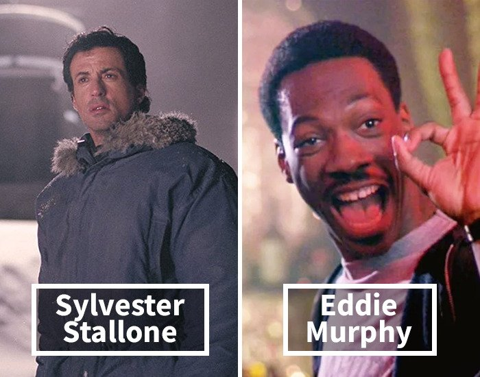 Sylvester Stallone por Eddie Murphy  en Beverly Hills Cop