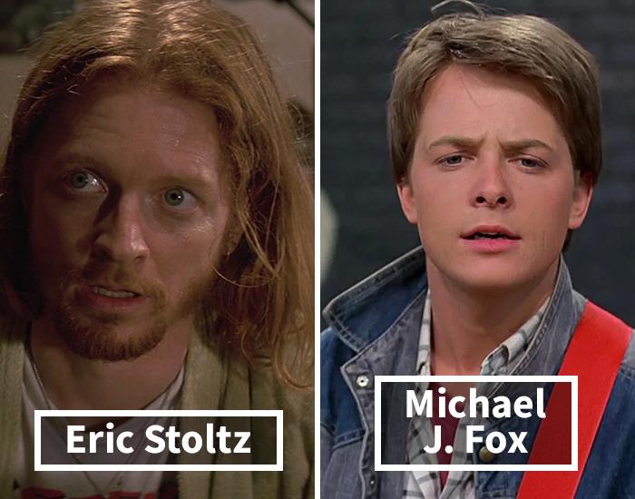 Eric Stoltz por Michael J. Fox en Volver al futuro