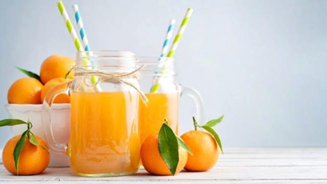 Agua fresca de mandarina; 13 Bebidas para llenar de sabor tus tardes de calor