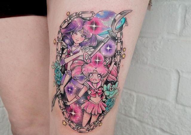 Tatuaje inspirado en las Sailor Scouts; 13 Tatuajes para decorar tu piel 'en el nombre de la Luna'