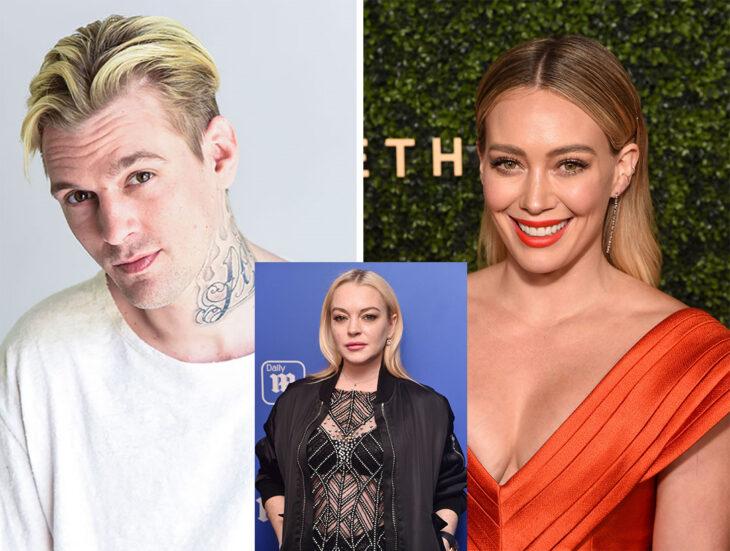 Triángulo amoroso entre Aaron Carter, Hilary Duff y Lindsay Lohan
