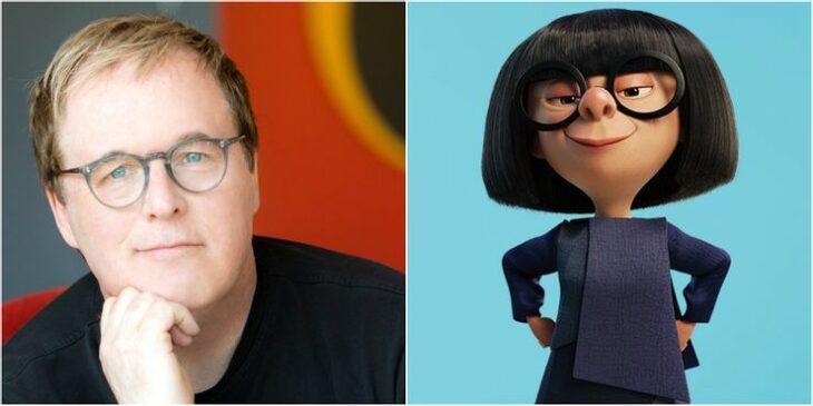 Brad Bird director de los Increíbles dándole voz a Edna Moda