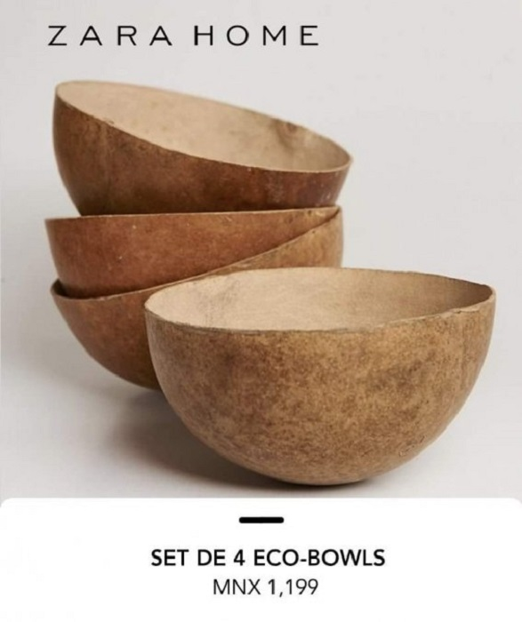 Imagen de catalogo de bowls ecológicos de Zara Home