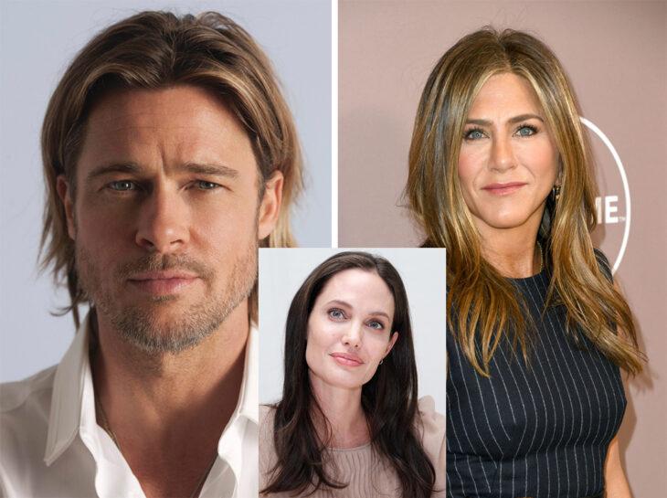 Triángulo amoroso entre Brad Pitt, Jennifer Aniston y Angelina Jolie