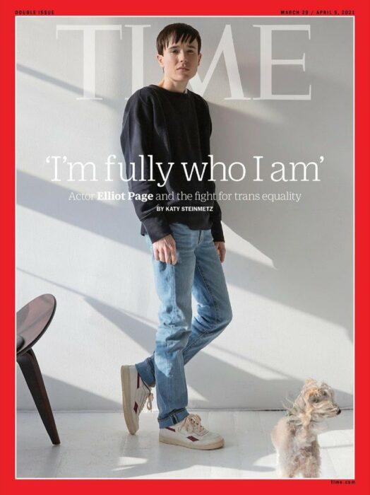 Elliot Page en la portada de la revista Time; Elliot Page protagoniza su primera portada como hombre en la revista 'Time'