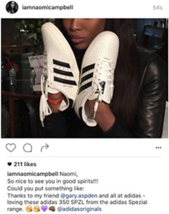 Comentario en twitter de Naomi Campbell