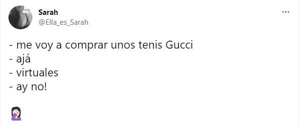 Comentarios en twitter sobre los tenis virtuales de gucci