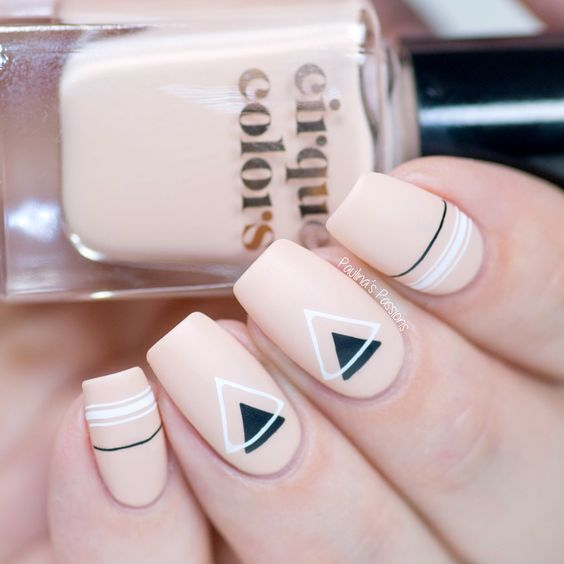 Manicure in pale pink tone with matte effect; Ideas for nude manicure