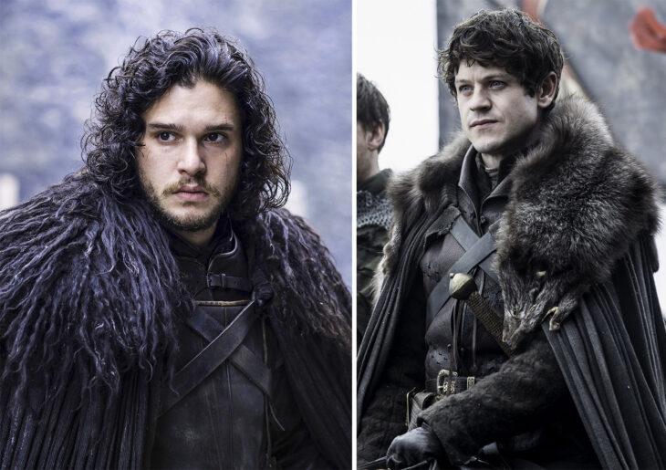 Del lado izquierdo Jon Snow de 'Juego de tronos', del lado derecho Ramsay Bolton de 'Juego de tronos'