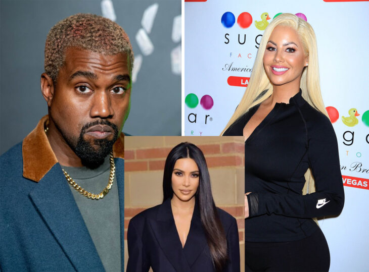 Triángulo amoroso entre Kanye West, Amber Rose y Kim Kardashian