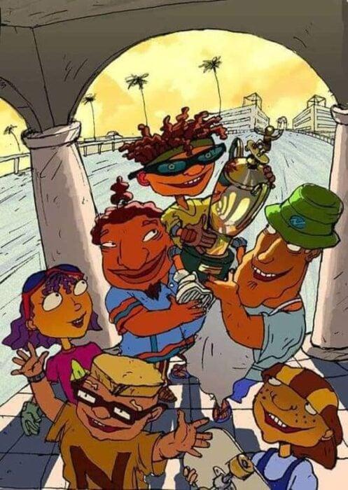 Escena del programa de Nickelodeon; Rocket Power