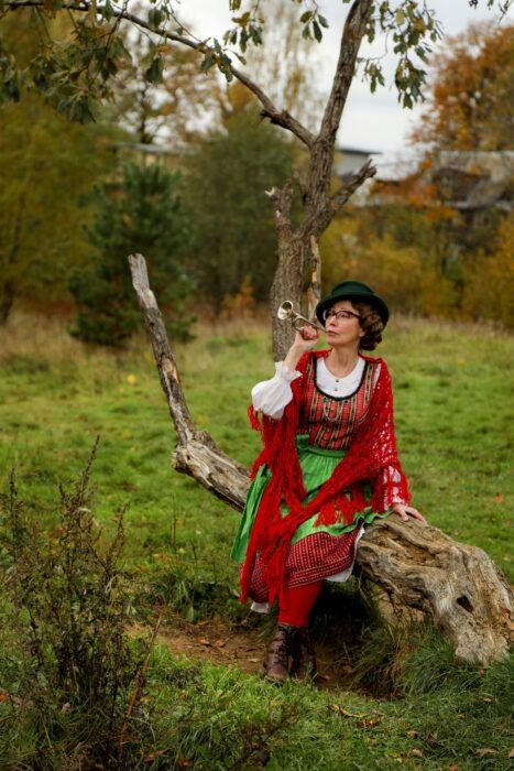 Cosplay de aldeana alemana, de Marina Badianova