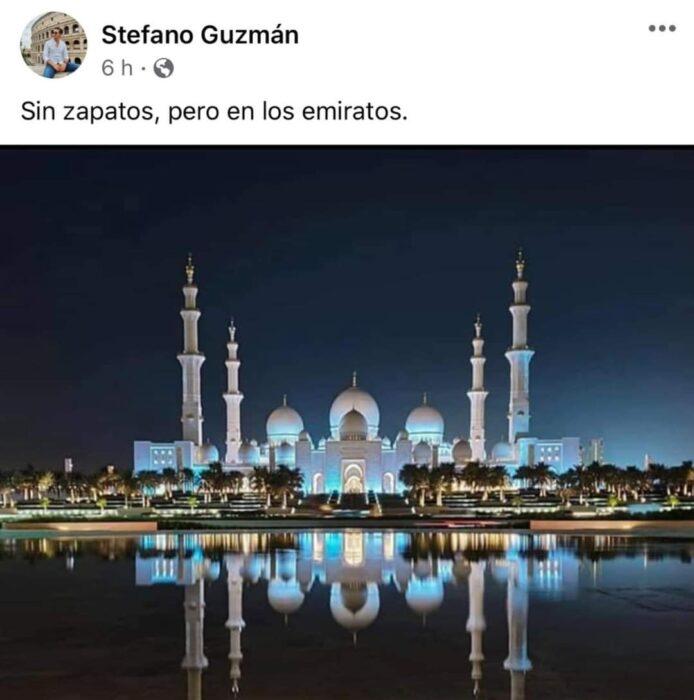 Foto de loa Emiratos Árabes Unidos;  Mexicanos están compartiendo fotos de sus viajes con ingeniosas rimas