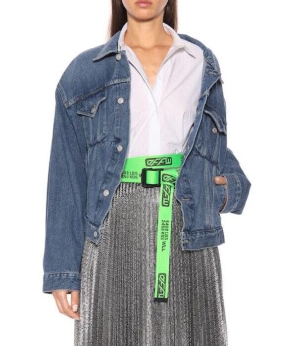 Cinturón en color verde neón
