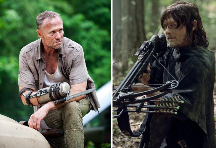Del lado izquierdo Merle Dixon de 'The Walking Dead', del lado derecho Daryl Dixon de 'The Walking Dead'