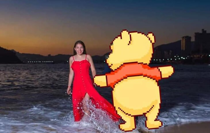 Edición de foto con Whinnie Pooh
