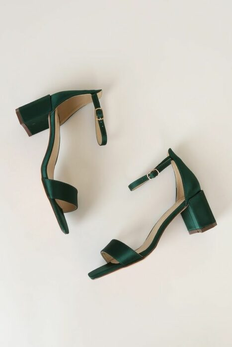 Tacones de color verde