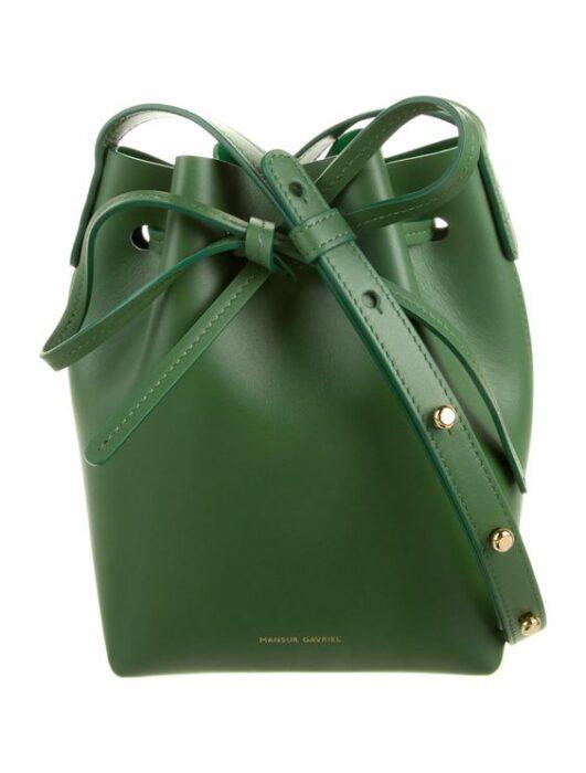 Bucket bag color verde