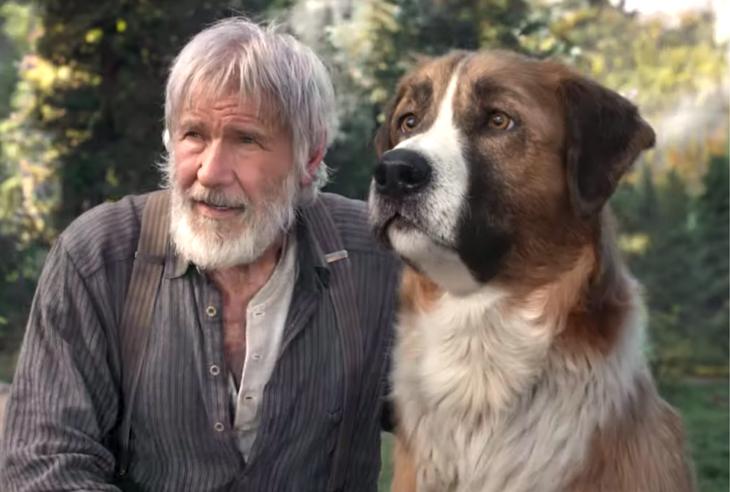 Harrison Ford y su perro en la película Call of the wild