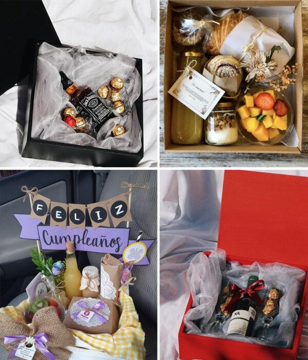 Collage de cajas sorpresa y desayunos