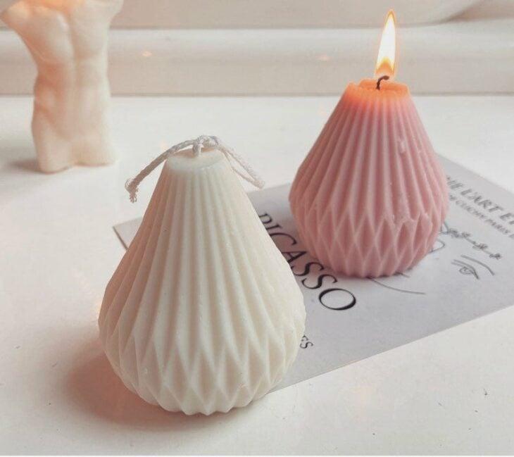Diseño de velas en forma de lámpara