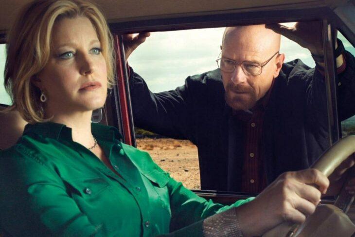 Walter White junto a su esposa Skiler conversando en una camioneta