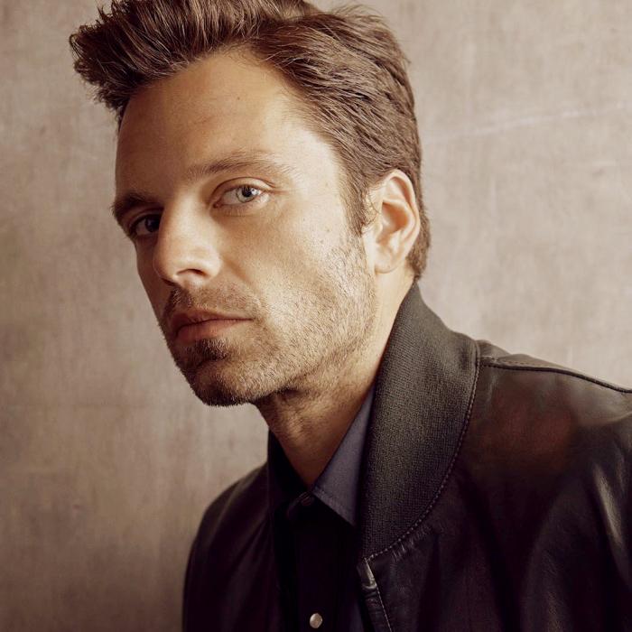 actor romano-americano Sebastian Stan en sesión de fotos