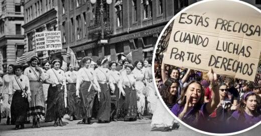 mujeres protesta por derechos de las mujeres 8 de marzo