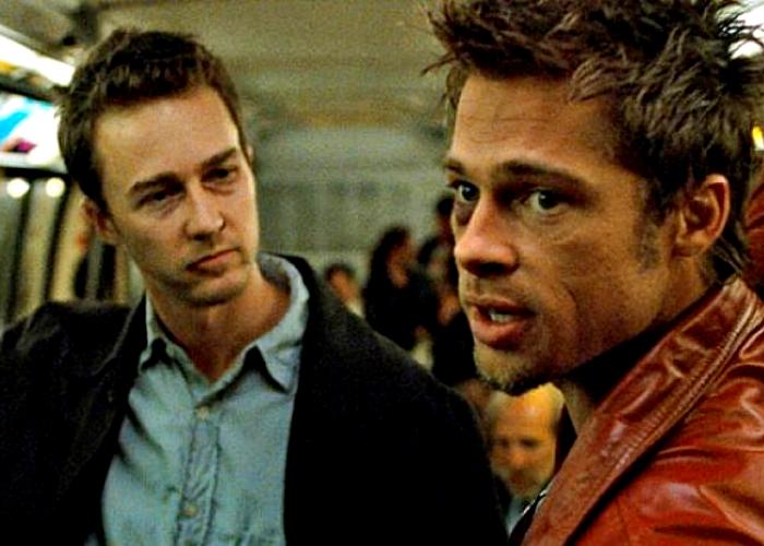 "escena de la película ""El club de la pelea"""
