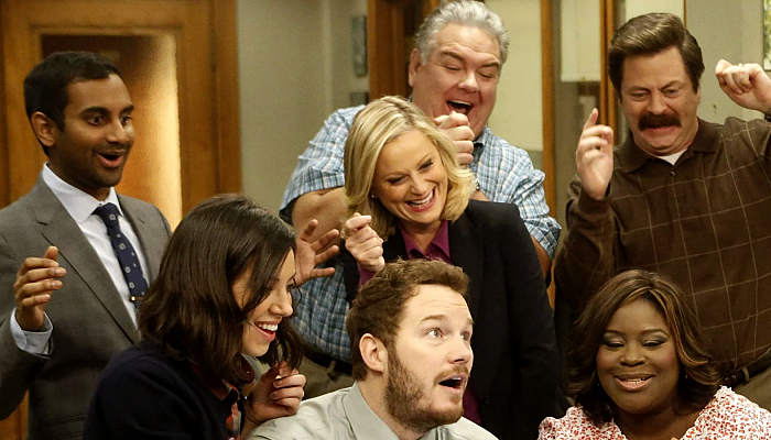 "escena de la serie ""Parks And Recreation"""