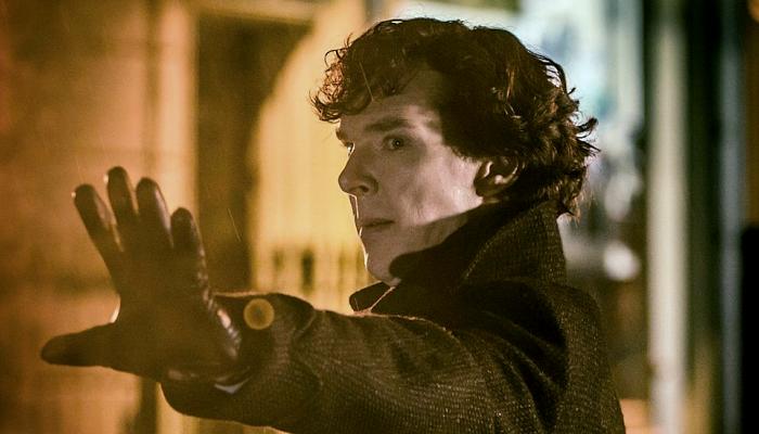 """escena de la serie """"Sherlock"""""""