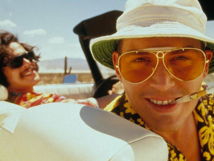 Johnny Depp en la película Locura y pánico en Las Vegas; 10 Actores que dieron todo para lograr una actuación increíble