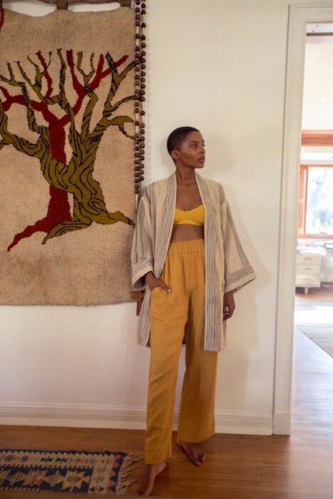 chcia in a yellow suit and gray kimono; 13 Ideas to wear a kimono like Sailor Mars