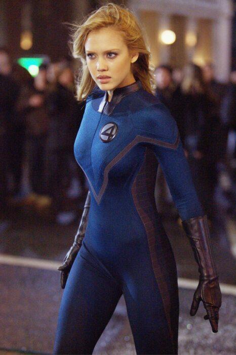 Jessica Alba para la película:Los cuatro fantásticos; 15 Celebridades que se dicen arrepentidas de los papeles que han tomado