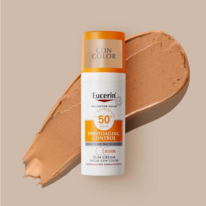 Eucerin Sun CC Creme Tono Medio FPS 50+; 5 Protectores solares con color para proteger tu piel