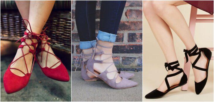 zapatos lace-up flats; 8 Tipos de zapatos para las que no gustan de usar sandalias