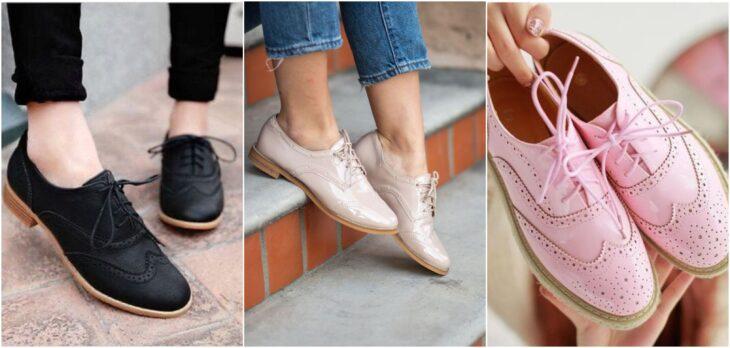 zapatos tipo oxfords; 8 Tipos de zapatos para las que no gustan de usar sandalias
