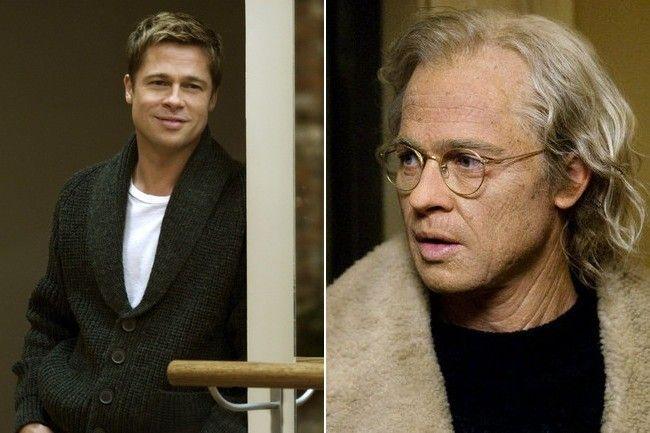 Brad Pitt en el papel de Benjamin Button vs como se ve realmente