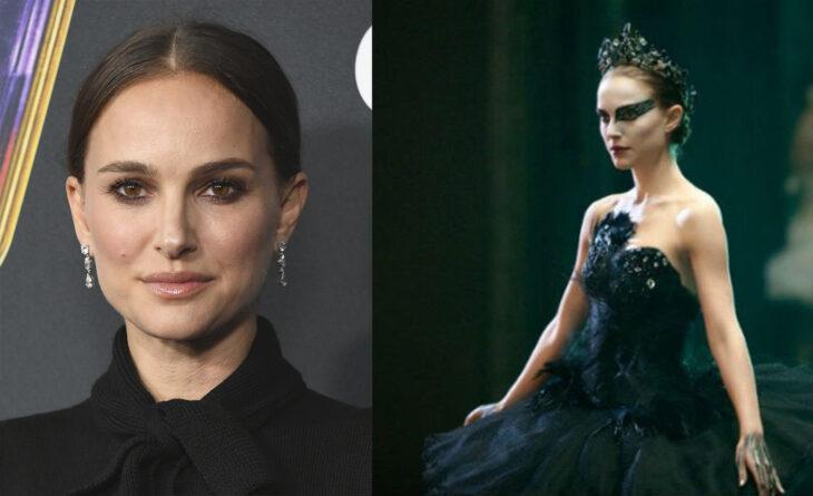 Natalie Portman en el papel de El cisne Negro vs como se ve realmente
