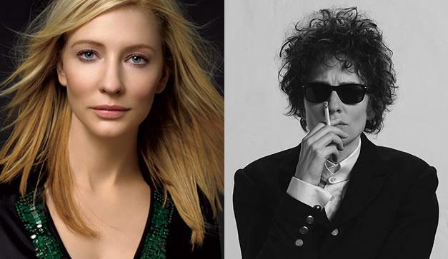Cate Blanchet en el papel de Bob Dylan vs como se ve realmente
