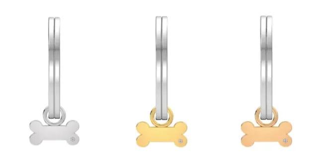Plaquita para perro de diferentes materiales como plata y oro
