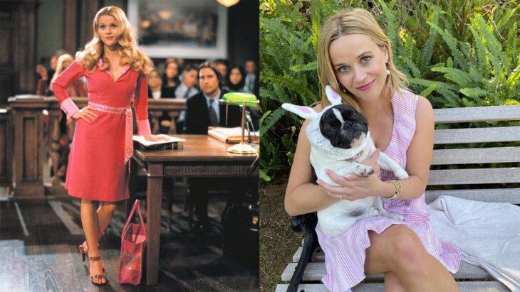 Antes y después de Reese Witherspoon en la película Legalmente rubia
