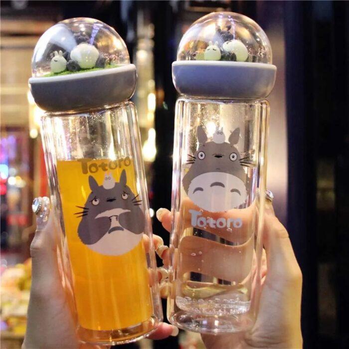 cilindro para beber agua con muñeco Totoro; Cilindros bonitos que te motivaran a beber aguita todo el días