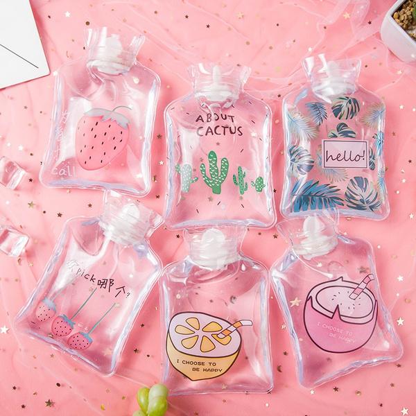 bolcitas transparentes para usarse como cilindro de agua;  Cilindros bonitos que te motivaran a beber aguita todo el días
