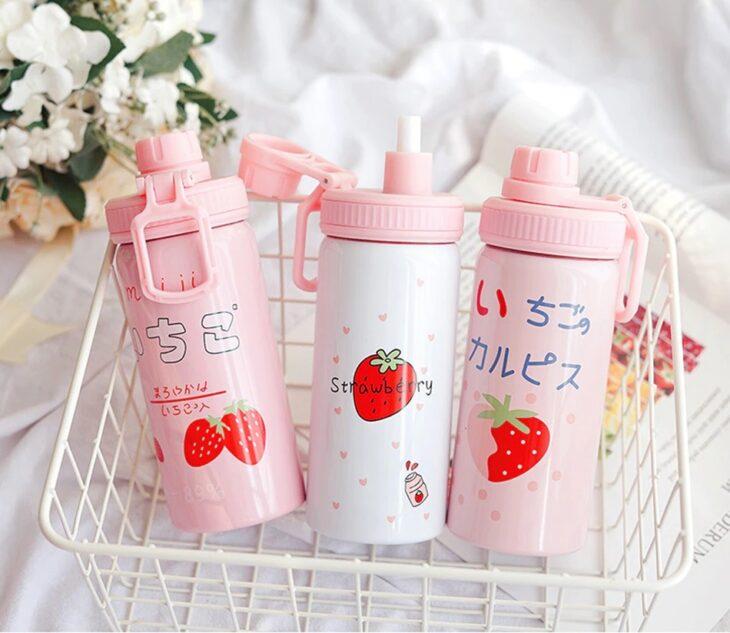 cilindro bonito con leras japonesas; Cilindros bonitos que te motivaran a beber aguita todo el días